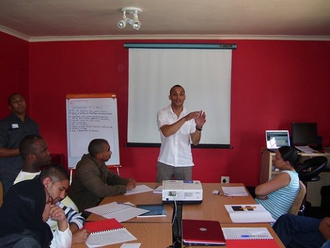 """ton doing his presentation""""Confessions of a Mobile Counsellor"""""""